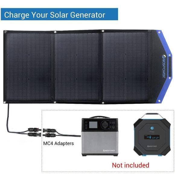 Acopower AP3XSP 3x30Watt Çanta Tipi Katlanabilir Güneş Enerji Paneli