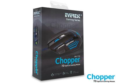 Everest Sm-770 Chopper Usb Siyah Oyuncu Mouse - Thumbnail