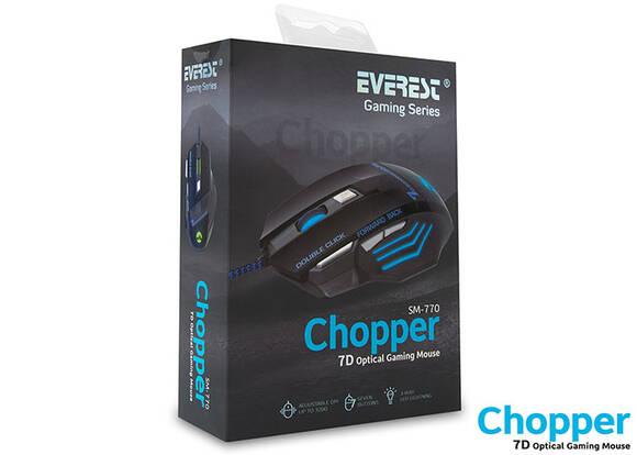 Everest Sm-770 Chopper Usb Siyah Oyuncu Mouse