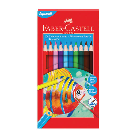 Faber Castell Aquarel Kuru Boya Redline Karton Kutu 12 li