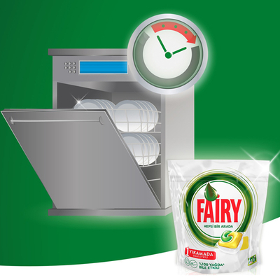 Fairy Hepsi Bir Arada Bulaşık Makinesi Tableti Limon 70'li - Thumbnail