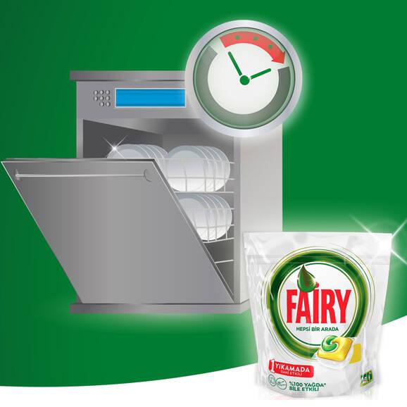 Fairy Hepsi Bir Arada Bulaşık Makinesi Tableti Limon 70'li