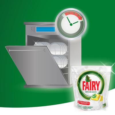 Fairy Hepsi Bir Arada Bulaşık Makinesi Tableti Limon 90'lı - Thumbnail