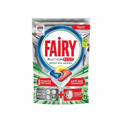 Fairy Platinum Plus Hepsi Bir Arada Bulaşık Makinesi Tableti Limon 40'lı - Thumbnail