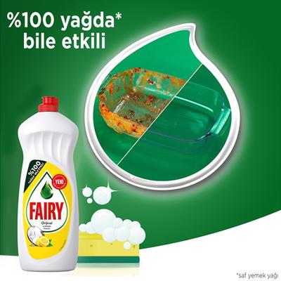 Fairy Elde Yıkama Sıvı Bulaşık Deterjanı Limon 650 ml - Thumbnail