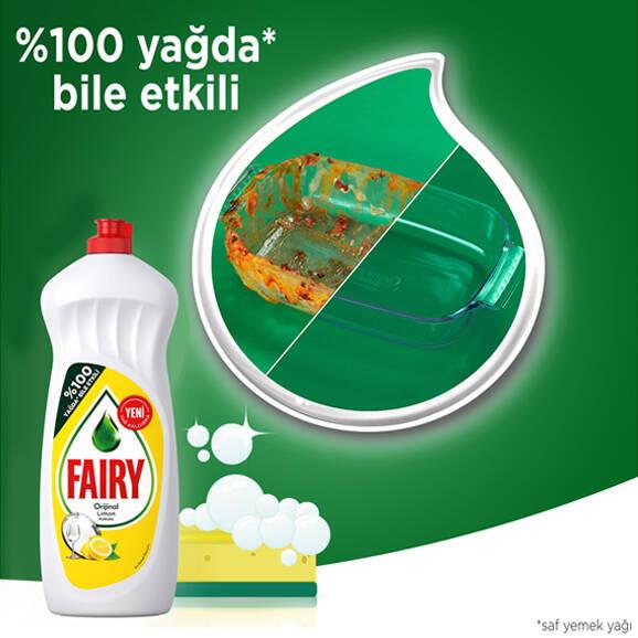 Fairy Elde Yıkama Sıvı Bulaşık Deterjanı Limon 650 ml