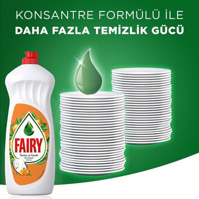 Fairy Elde Yıkama Sıvı Bulaşık Deterjanı Portakal 650 ml - Thumbnail