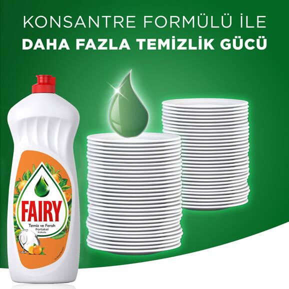 Fairy Elde Yıkama Sıvı Bulaşık Deterjanı Portakal 650 ml