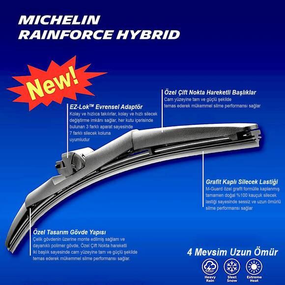 Michelin Rainforce™ MC19815 38CM 1 Adet Universal Hibrit Silecek