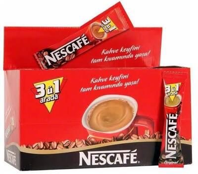 Nescafe 3'ü 1 Arada Kahve 72'li Kutu