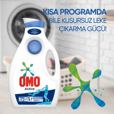 Omo Active Sıvı Çamaşır Deterjanı 1950 ml - Thumbnail