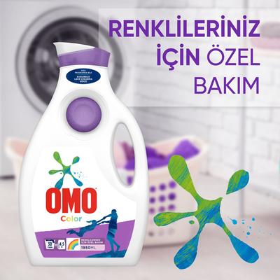 Omo Color Sıvı Çamaşır Deterjanı Renkliler için 1950 ml - Thumbnail