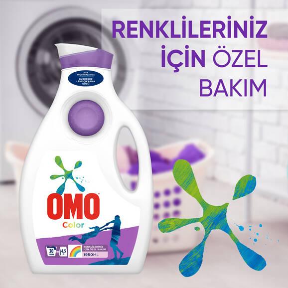 Omo Color Sıvı Çamaşır Deterjanı Renkliler için 1950 ml