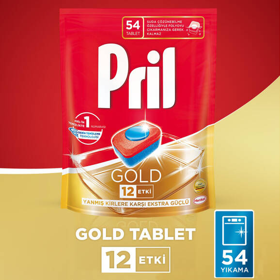 Pril Gold Bulaşık Makinesi Tableti 54'lü