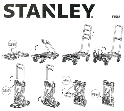 Stanley FT585 70-137Kg Çok Fonksiyonlu Katlanır El Arabası - Thumbnail